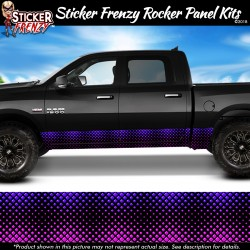 Purple Diamond Fade Rocker Panel Decal Set