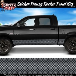 Silver Diamond Grate Rocker Panel Decal Set
