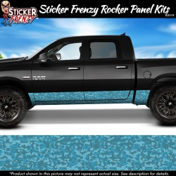 Blue Digital Camo Rocker Panel Decal Set