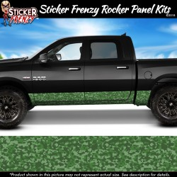 Green Digital Camo Rocker Panel Decal Set