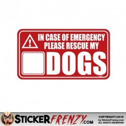 Rescue My DOGS Stickers