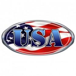 "USA Oval ""Blue"" Decal"