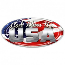 "USA Oval ""God Bless"" Decal"