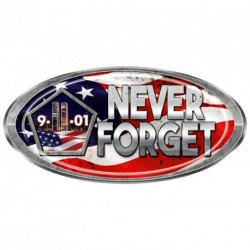 "USA Oval ""911 Never Forget"" Decal"