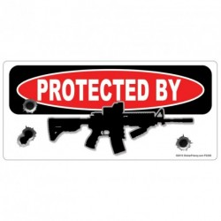 PROTECTED BY AR-15 Rifle Sticker