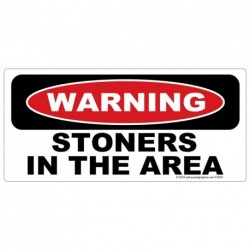 WARNING Stoners in the Area Sticker