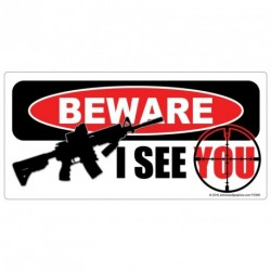 BEWARE I SEE YOU - AR15 Sticker
