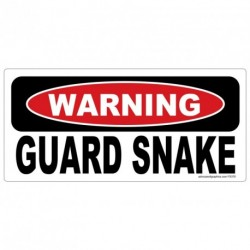 WARNING Guard Snake Sticker