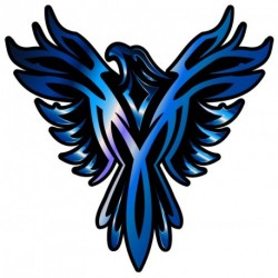 Phoenix BLUE Sticker