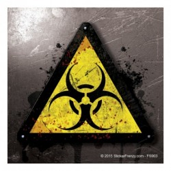Biohazard Metal Sticker