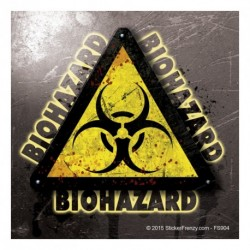 "Biohazard Metal ""words"" Sticker"