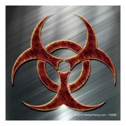 Biohazard Lava Metal Sticker