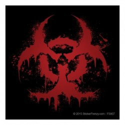 Black Bloody Biohazard Decal