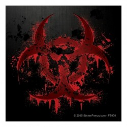 Black Bloody Biohazard Decal v2