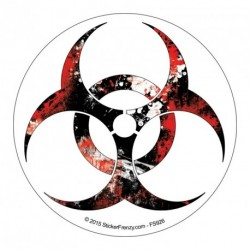 Biohazard Grunge Round Sticker