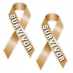 Ribbon SURVIVOR GOLD Sticker