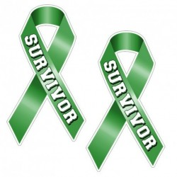 Ribbon SURVIVOR GREEN Sticker
