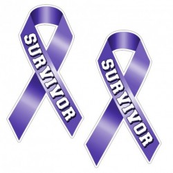 Ribbon SURVIVOR PURPLE Sticker