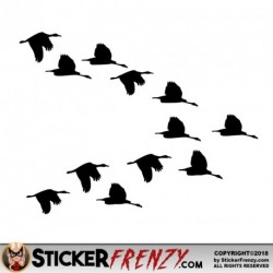 Bird Ducks Flying V Decal