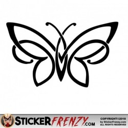 Butterfly Tribal 001 Decal