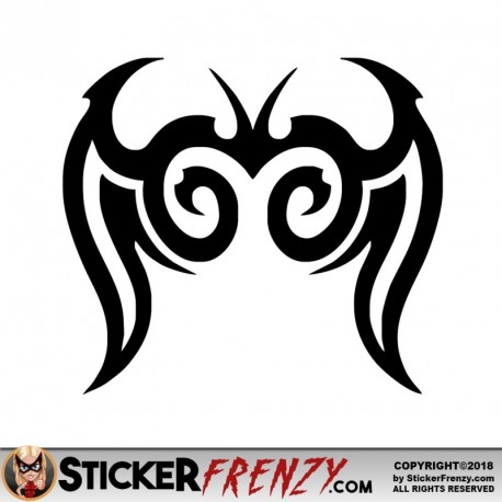 Butterfly Tribal 002 Decal