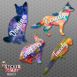 Custom Pet Name Sticker
