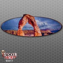 Arch Rock Oval RV Decal