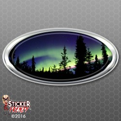 Aurora Borealis Oval RV Decal