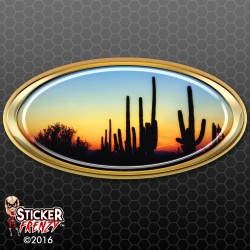 Desert Sunset Oval RV Decal