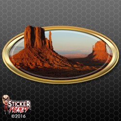 Monument Valley Oval RV Decal