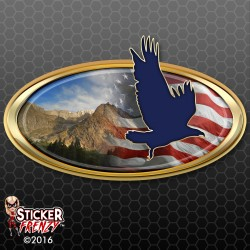 Soaring Eagle Oval RV Decal