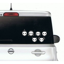 Cute Skull Family Bumper Stickers