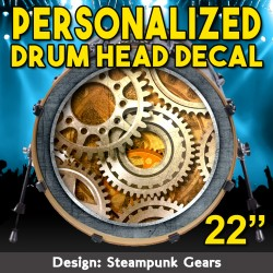 "Custom Bass Drum Head Decal for 22"" head"