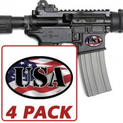 AR-15 USA Oval 4 Pack Stickers