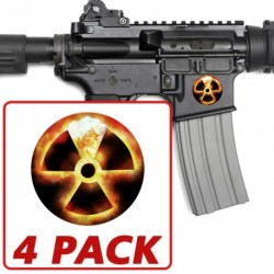 AR-15 Atomic Radiation 4 Pack Stickers