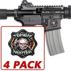 AR-15 Zombie Hunter 4 Pack Stickers
