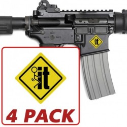 AR-15 F*ck It 4 Pack Stickers