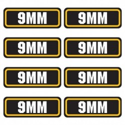 9mm Ammo Stickers. Available in 4pack, 8pk, 12pk, 16pk