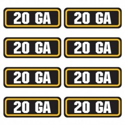 20ga Ammo Stickers