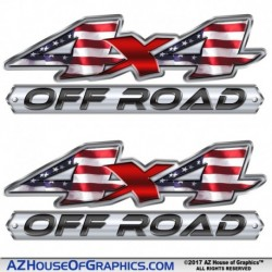 "4x4 ""US Flag OFF ROAD"""
