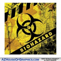Biohazard Caution Stripes Sticker