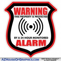 Warning Alarm Sheild Red