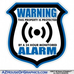 Warning Alarm Sheild Blue