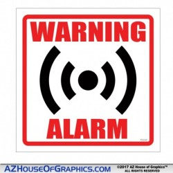 Warning Alarm Square
