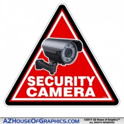 Triangle Security Camera 2 pack Sticker