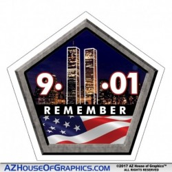 Remember 911 Hard Hat Sticker - HH001