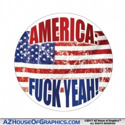 America Fuck Yeah Hard Hat Sticker - HH003