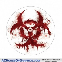 Bloody Biohazard Hard Hat Sticker - HH004