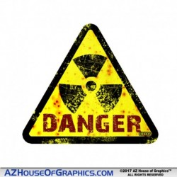 DANGER Radiation TRI Hard Hat Sticker - HH005