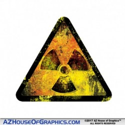GRUNGE Radiation TRI Hard Hat Sticker - HH006